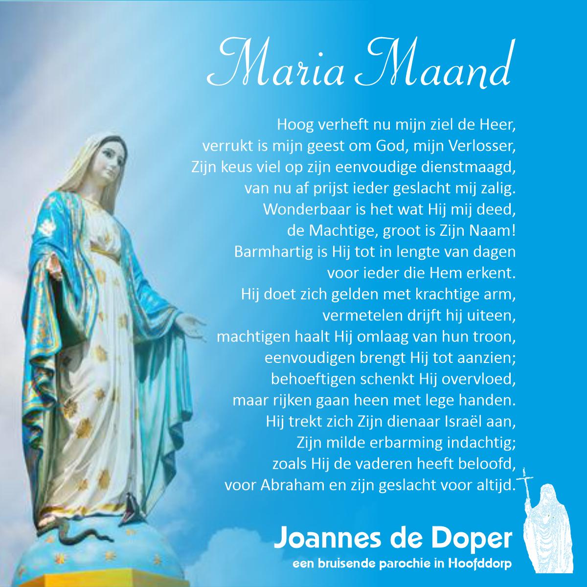 Gebed voor de Maria maand