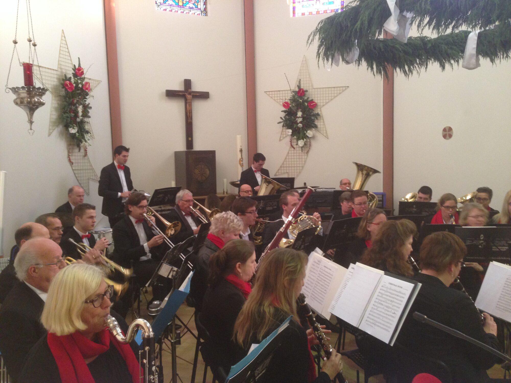 Muziekgezelschap Excelior op Tweede Kerstdag in onze kerk