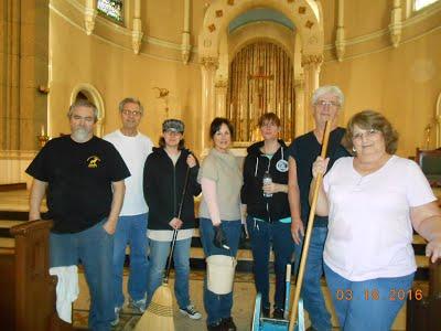 Martagroep, de ploeg die de kerk mooi en schoon houden.